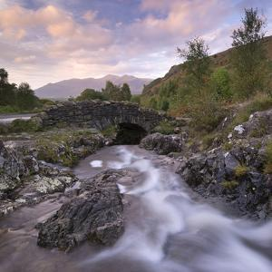 Ashness Bridge in the Lake District National Park, Cumbria, England. Autumn (September) by Adam Burton