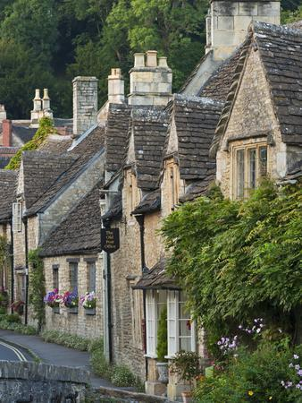 Picturesque Cottages in the Beautiful Cotswolds Village of Castle Combe, Wiltshire, England