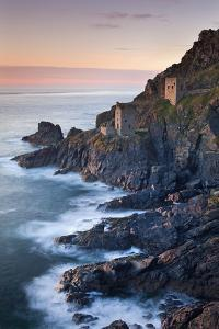 Remains of The Crowns tin mine engine houses on the Cornish Atlantic coast near Botallack, St Just, by Adam Burton