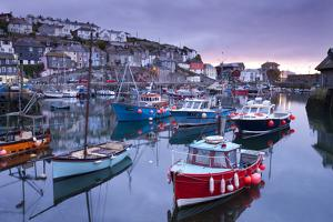 Sunrise over the Picturesque Harbour at Mevagissey, Cornwall, England. Spring by Adam Burton