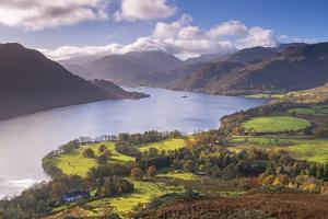 Ullswater from Gowbarrow Fell, Lake District National Park, Cumbria, England. Autumn by Adam Burton