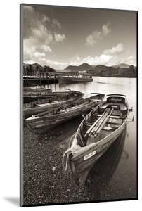 Wooden Rowing Boats on Derwent Water, Keswick, Lake District, Cumbria, England. Autumn by Adam Burton