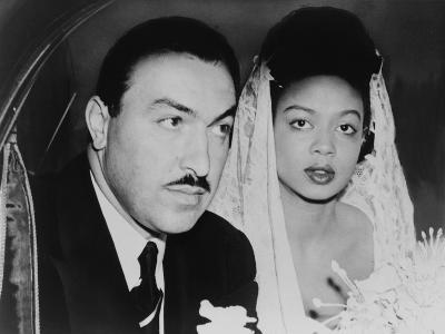 Adam Clayton Powell, Jr. and His Bride, Hazel Dorothy Scott, 1925--Photo