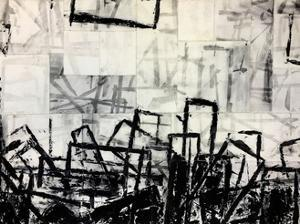 Black & White Abstract by Adam Collier Noel