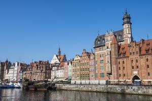 Hanseatic League houses on the Motlawa river, Gdansk, Poland, Europe by Adam Collier Noel
