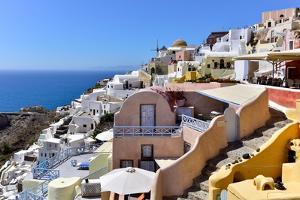 Oia, Santorini, Cyclades, Aegean Islands, Greek Islands, Greece, Europe by Adam Collier Noel