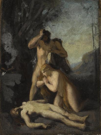 Adam et Eve trouvant le corps d'Abel-Jean Jacques Henner-Giclee Print