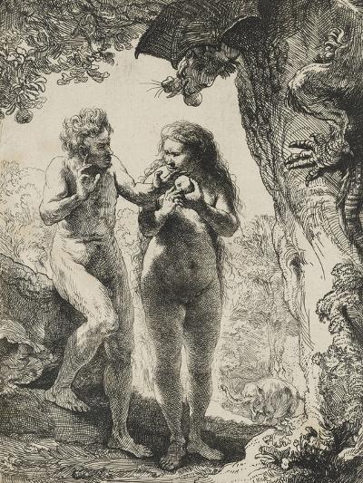 Adam et Eve-Rembrandt van Rijn-Giclee Print