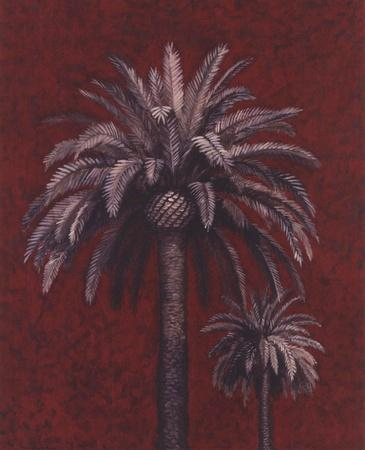 Palm Study On Red