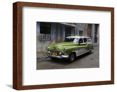 1950's Era Antique Car and Street Scene from Old Havana, Havana, Cuba