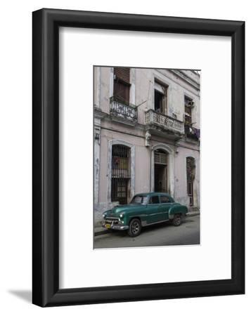 1950's Era Car Parked on Street in Havana Cuba