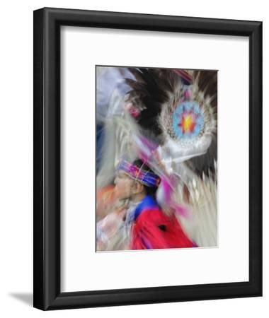 Abstract Motion View of Colorfully Dressed Native American Indian Dance, Montana