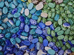 Alabaster Scarab Beetles, Khan El Khalili Bazaar, Cairo, Egypt by Adam Jones