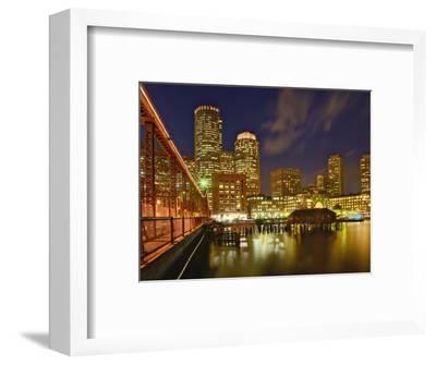 Boston Skyline at Dusk, Boston, Massachusetts