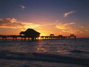 Clearwater Beach and Pier at Sunset, Florida, USA by Adam Jones