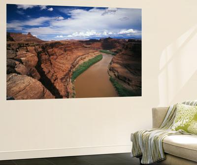 Colorado River Passing Through Canyon, Canyonlands National Park, Utah, USA