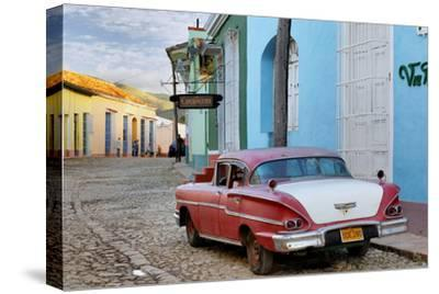 Colorful Buildings and 1958 Chevrolet Biscayne, Trinidad, Cuba