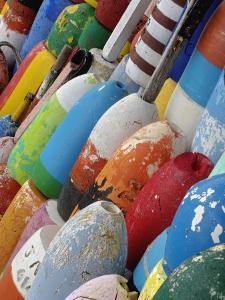 Colorful Buoys, Rockport, Cape Ann, Massachusetts, USA by Adam Jones