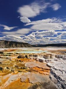 Colorful Terraces atop Mammoth Hot Springs by Adam Jones
