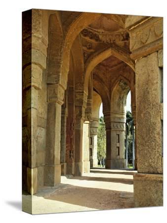 Columns on Tomb of Mohammed Shah, Lodhi Gardens, New Delhi, India