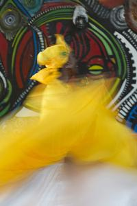 Cuban Dancer in Motion, Callejon De Hamel, Cuba by Adam Jones