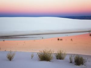 Dusk Sky Reflected in Pool, White Sands National Monument, New Mexico, USA by Adam Jones