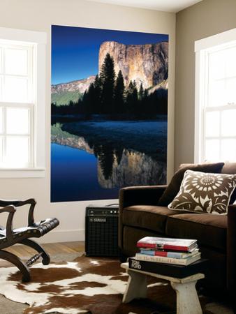 El Capitan Reflected in Merced River, Yosemite National Park, California, USA