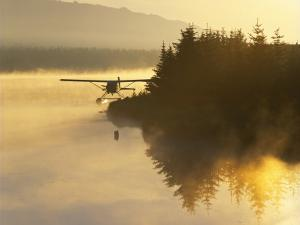 Float Plane on Beluga Lake at Dawn, Homer, Alaska, USA by Adam Jones