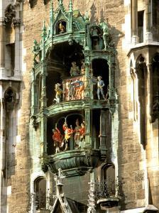 Glockenspiel Details, Marienplatz, Munich, Germany by Adam Jones
