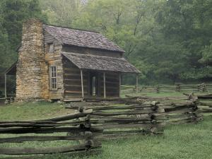 John Oliver Cabin in Cades Cove, Great Smoky Mountains National Park, Tennessee, USA by Adam Jones