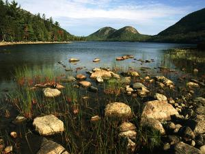 Jordan Pond and the Bubbles Mountain, Acadia National Park, Maine, USA by Adam Jones