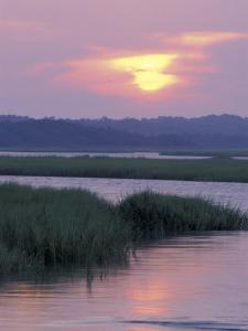 Lockwood Folley Inlet at Sunrise, North Carolina, USA by Adam Jones