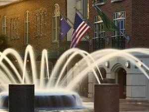 Long Exposure on Fountain, Charleston, South Carolina, USA by Adam Jones