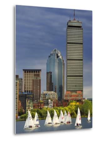 Mit Sailing Team Practicing in Charles River, Boston, Massachusetts, USA