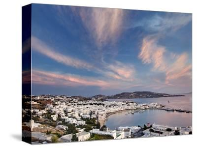 Mykonos Harbor at Sunset, Mykonos, Greece
