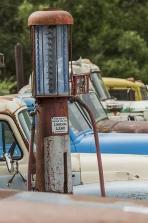 Old Trucks and Antique Gas Pump, Hennigar's Gas Station, Palouse Region of Eastern Washington