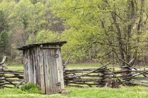 Outhouse, Pioneer Homestead, Great Smoky Mountains National Park, North Carolina by Adam Jones