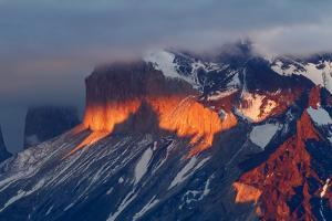 Paine Massif at sunset, Torres del Paine National Park, Chile, Patagonia by Adam Jones