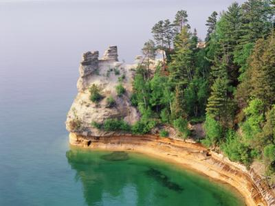 Pictured Rocks National Seashore on Lake Superior, Miner's Castle, Michigan, USA by Adam Jones