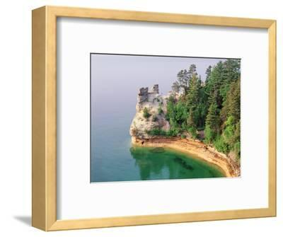 Pictured Rocks National Seashore on Lake Superior, Miner's Castle, Michigan, USA