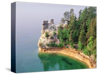 Pictured Rocks National Seashore on Lake Superior, Miner's Castle, Michigan, USA