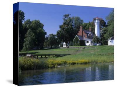 Port Sanilac Lighthouse on Lake Huron, Michigan, USA