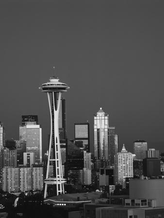 Space Needle at Dusk, Seattle, Washington, USA by Adam Jones