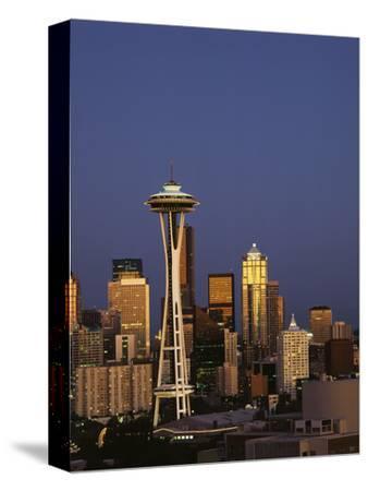Space Needle at Dusk, Seattle, Washington, USA
