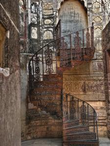 Spiral stairs, Mehrangarh Fort, Jodhpur, India by Adam Jones