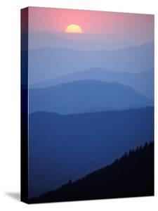 Sunrise, Appalachian Mountains, Great Smoky Mountains National Park, North Carolina, USA by Adam Jones