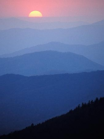 Sunrise, Appalachian Mountains, Great Smoky Mountains National Park, North Carolina, USA