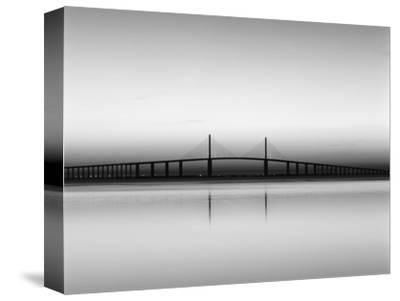 Sunshine Skyway Bridge over Tampa Bay from Fort De Soto Park, Florida, USA