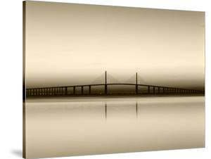 Sunshine Skyway Bridge over Tampa Bay from Fort De Soto Park, Florida, USA by Adam Jones