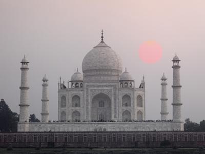 Taj Mahal at Sunset, Agra, India by Adam Jones
